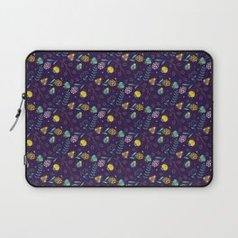 Flora & Beetles (purple) Laptop Sleeve