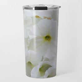 White Petunias Travel Mug