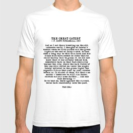 Ending of The Great Gatsby - Fitzgerald quote T-shirt