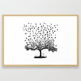 Crows in a tree Framed Art Print