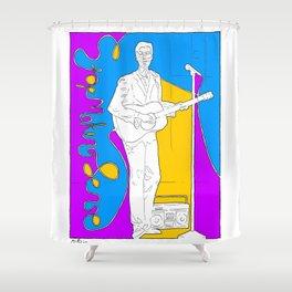 David Byrne in Stop Making Sense by Aaron Bir Shower Curtain