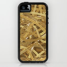 Full of gold chains iPhone Case