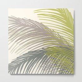 Palm Silhouette Series - Neutral Summer Palette Metal Print