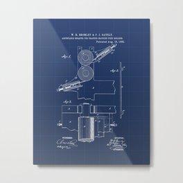 Adjustable Scraper for Cracker Machine Feed Rollers Vintage Patent Hand Drawing Metal Print