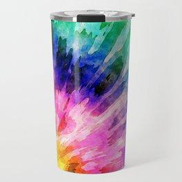 Textured Tie Dye Travel Mug