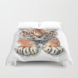 Playful Tiger Cub 907 Duvet Cover