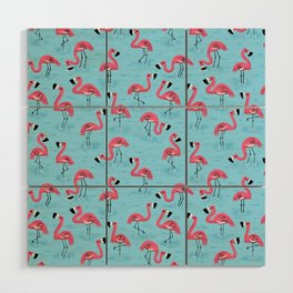 Flamingos Wood Wall Art