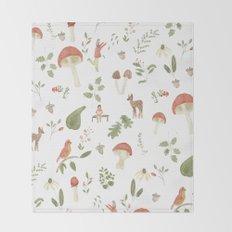 Forest Dream Pattern Throw Blanket