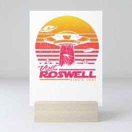 Roswell UFO conspiracy theory Area 51 gift Mini Art Print