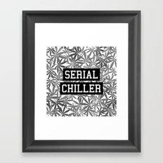Serial Chiller B&W Framed Art Print
