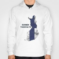 finland Hoodies featuring Finland / Suomen Tasavalta by Dandy Octopus