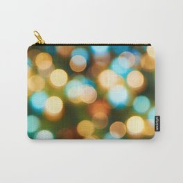 Abstract holiday Christmas background with blue and yellow Carry-All Pouch