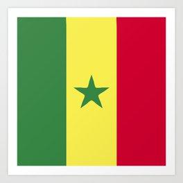 Senegal flag emblem Art Print