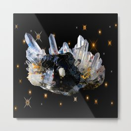 Star Aura Quartz Metal Print