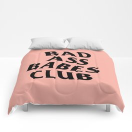 bad ass babes club Comforters