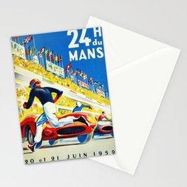 Vintage 1959 le Mans Poster Stationery Cards
