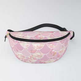 Girls Cute Mermaid Art, Pink and Gold Fanny Pack