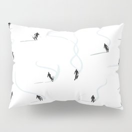 Mountain ski trail Pillow Sham
