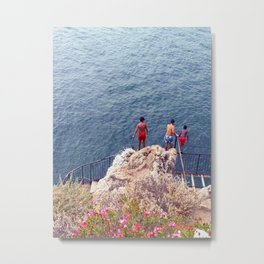 Oh, They Jump! Metal Print