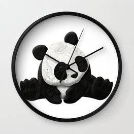 Lace Agate Panda Wall Clock