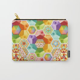 Circus Rainbow Hexagons Carry-All Pouch