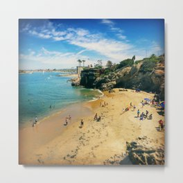 Playful Shores Metal Print