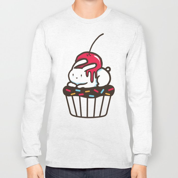 Chubby Bunny on a cupcake Long Sleeve T-shirt