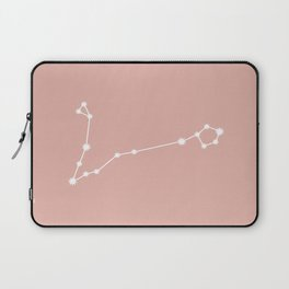 Pisces Zodiac Constellation - Pink Rose Laptop Sleeve