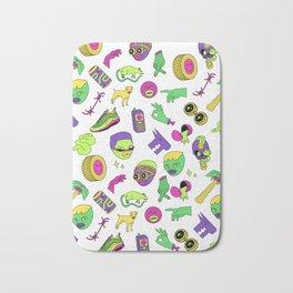 Acidic Stickers Bath Mat
