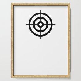 Bullseye Shooting Target Rings Serving Tray
