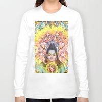 shiva Long Sleeve T-shirts featuring Sunflower Shiva by BradButler