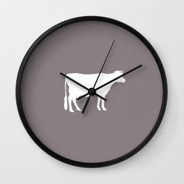 Cow: Purple Lavender Wall Clock