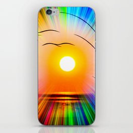 Sunset abstract iPhone Skin