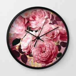 Gold Rose - Shinart Wall Clock