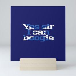 Scottish flag boogie woogie Mini Art Print