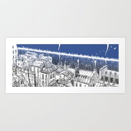 On this side of the wall Art Print