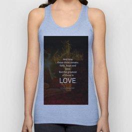 1 Corinthians 13:13 Bible Verses Quote About LOVE Unisex Tank Top
