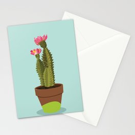 Green Pot Cactus Stationery Cards