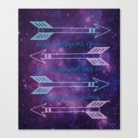 allison argent Canvas Prints featuring Argent Code by Captain Emily J.O.