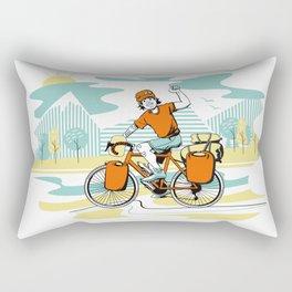 Bicycle Boy Rectangular Pillow
