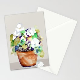 Pots of Petunias Stationery Cards