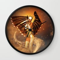 angel Wall Clocks featuring Angel by nicky2342