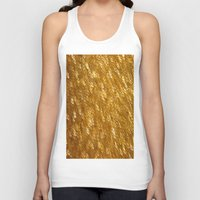 gold glitter Tank Tops featuring Gold Glitter 1324 by Cecilie Karoline