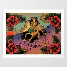Tattoo Libra Art Print