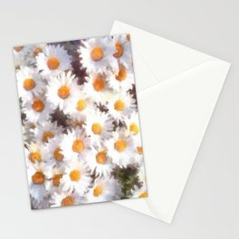 Spring Daisy Wildflower Watercolor Stationery Cards