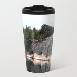 Fall Colors Accentuating Cliff Reflections Travel Mug