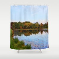 weed Shower Curtains featuring Weed Orchard by NaturallyJess