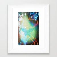 rorschach Framed Art Prints featuring Rorschach by Cullen Rawlins