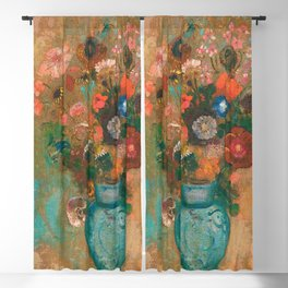Odilon Redon Flowers in a Vase 1903 Blackout Curtain
