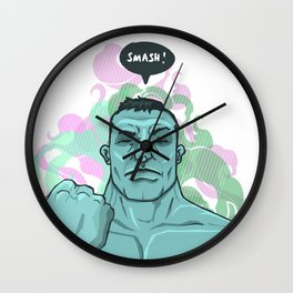 SMASH! Hulk Wall Clock